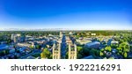Aerial Panorama overlooking Downtown Guelph
