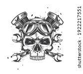 skull in motorcycle glasses on...   Shutterstock .eps vector #1922217551