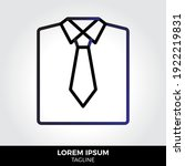 shirt icon in trendy style...
