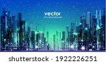 urban vector cityscape at night.... | Shutterstock .eps vector #1922226251
