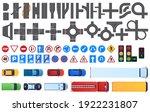 set of road segments. road... | Shutterstock .eps vector #1922231807