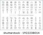 Set Of Restaurant Icons Of Food ...