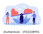 two people comparing logic...   Shutterstock .eps vector #1922238941