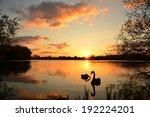 Sunset At A Lake.