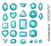 set of realistic green jewels.... | Shutterstock .eps vector #192224717