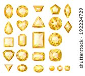 Set Of Realistic Yellow Jewels...