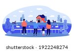 back view of people watching on ... | Shutterstock .eps vector #1922248274