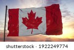 Flag Of Canada Waving In The...