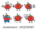 set of tomato character design | Shutterstock .eps vector #1922250587