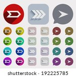 vector flat arrows icons set....