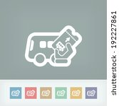 bus ticket | Shutterstock .eps vector #192227861