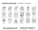 growth hacking flat  square... | Shutterstock .eps vector #1922279627