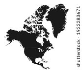 north america map with...   Shutterstock .eps vector #1922283671