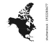 north america map with regions. ... | Shutterstock .eps vector #1922283677