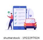 online car insurance vector... | Shutterstock .eps vector #1922297024