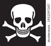 Crossbones Death Skull  Danger...