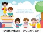 back to school with school kids ... | Shutterstock .eps vector #1922298134