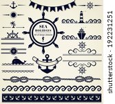 collection of various nautical... | Shutterstock .eps vector #192231251