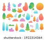 flat minimal tree and leaves.... | Shutterstock .eps vector #1922314364