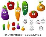 cucumber  pepper  eggplant ... | Shutterstock . vector #192232481
