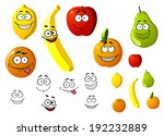 lemon  apple  orange  banana ... | Shutterstock . vector #192232889