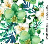 tropical watercolor floral... | Shutterstock .eps vector #192233357