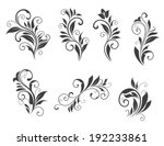 seven floral elements isolated... | Shutterstock . vector #192233861
