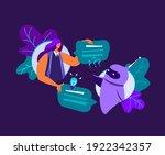 dialog helping service woman... | Shutterstock .eps vector #1922342357