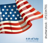 poster with the american flag... | Shutterstock .eps vector #192234701