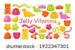 candy chewy jelly vitamins... | Shutterstock .eps vector #1922347301