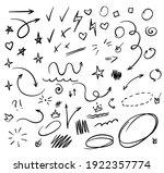 doodle swash black thin line... | Shutterstock .eps vector #1922357774