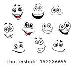 funny cartoon emotional faces... | Shutterstock . vector #192236699