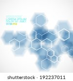 chemical and molecular concept... | Shutterstock .eps vector #192237011