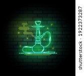 hookah neon signs on dark brick ...   Shutterstock .eps vector #1922373287