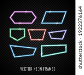 set of colorful neon frames on...   Shutterstock .eps vector #1922376164