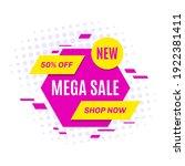 promotional sale banner... | Shutterstock .eps vector #1922381411