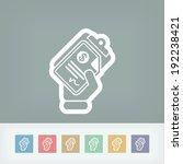 money document icon | Shutterstock .eps vector #192238421