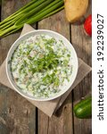 okroshka   russian cold...   Shutterstock . vector #192239027