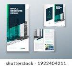 bi fold brochure or flyer... | Shutterstock .eps vector #1922404211
