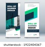 green business roll up banner....   Shutterstock .eps vector #1922404367