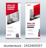 redbusiness roll up banner....   Shutterstock .eps vector #1922405357