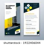 dl flyer design layout. black...   Shutterstock .eps vector #1922406044
