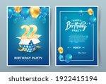 22th years birthday vector...   Shutterstock .eps vector #1922415194