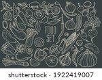 hand drawn vegetables. set for... | Shutterstock .eps vector #1922419007