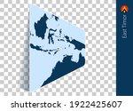 east timor map and flag on... | Shutterstock .eps vector #1922425607