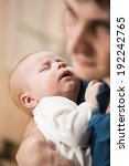 happy father with baby in his... | Shutterstock . vector #192242765