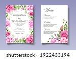 wedding invitation set with... | Shutterstock .eps vector #1922433194