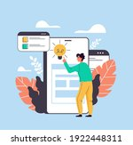 man user character searching... | Shutterstock .eps vector #1922448311