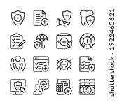health insurance line icons set....   Shutterstock .eps vector #1922465621