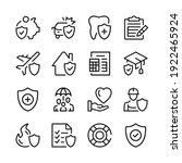 insurance line icons set....   Shutterstock .eps vector #1922465924